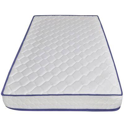 vidaXL Bed met traagschuim matras stof blauw 90x200 cm