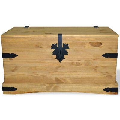vidaXL Opbergkist Mexicaans grenenhout Corona-stijl 91x49,5x47 cm