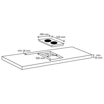 vidaXL Inductiekookplaat aanraakbediening inbouw 2000 W 86 cm glas