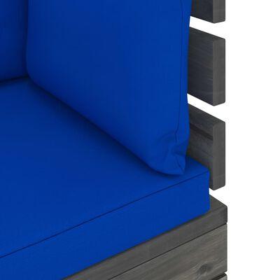 vidaXL 9-delige Loungeset met kussens pallet massief grenenhout