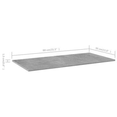 vidaXL Wandschappen 8 st 80x30x1,5 cm spaanplaat betongrijs