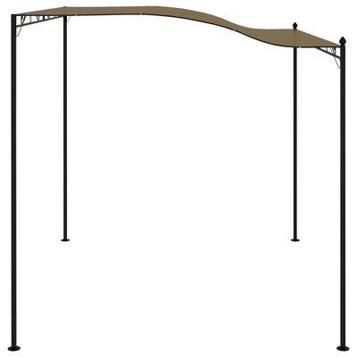 vidaXL Zonneluifel 180 g/m² 3x2,5 m taupe