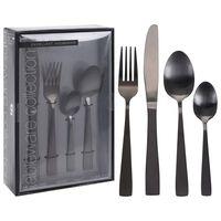 Excellent Houseware 16-delige Bestekset roestvrij staal zwart