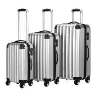 Monzana 3 Delige Kofferset Hardcase Zilverkleurig 36l - 59l - 89l