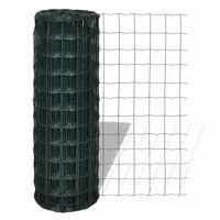 vidaXL Euro hek 10x1,0 m staal groen