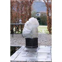 Winterafdekhoes met koord beige 50 cm x 100 cm Nature