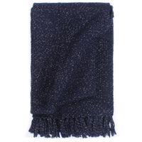 vidaXL Plaid 160x210 cm lurex marineblauw