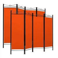 Monzana Kamerscherm 180cm X 163cm Kleur Oranje (set Van 2 Stuks )