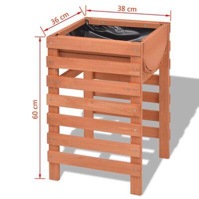 vidaXL Plantenbak 38x36x60 cm hout