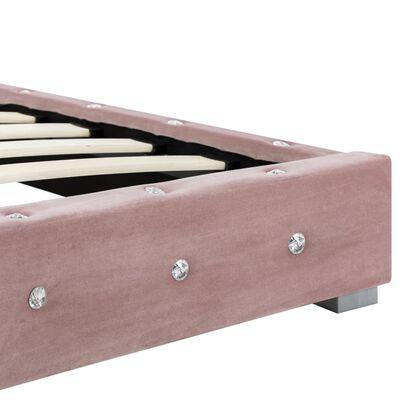 vidaXL Bed met matras fluweel roze 180x200 cm