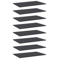vidaXL Wandschappen 8 st 80x50x1,5 cm spaanplaat grijs