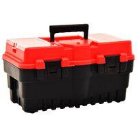 vidaXL Gereedschapskist 462x256x242 mm kunststof rood