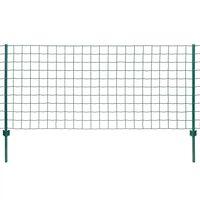 vidaXL Euro hek 20x0,8 m staal groen