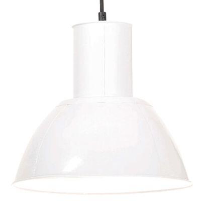 vidaXL Hanglamp rond 25 W E27 28,5 cm wit