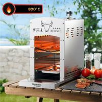 Monzana Grill, 800 ° C, 5 hoogtes, gas grill, rvs, bbq grill