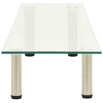 vidaXL Tv-meubel 140x35x17 cm gehard glas transparant
