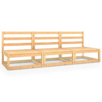 vidaXL Tuinbank 3-zits massief grenenhout