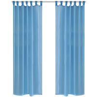 Turquoise Vitrage 140 x 245 cm 2 stuks