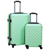 vidaXL 2-delige Harde kofferset ABS mintkleurig