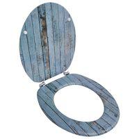 Toiletbril met MDF houten ontwerp