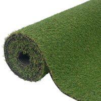 vidaXL Kunstgras 0,5x5 m/20 mm groen