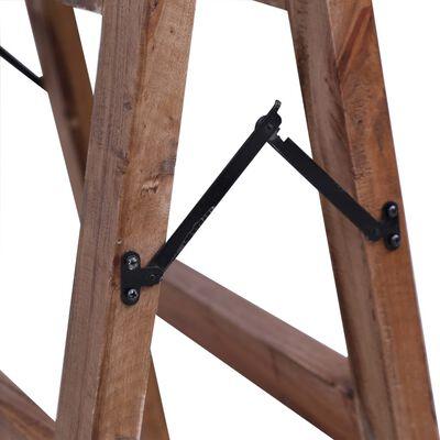 vidaXL Wandtafel 116x55x80 cm massief gerecycled hout