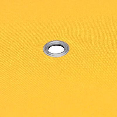 vidaXL Prieeldak 2-laags 310 g/m² 3x3 m geel