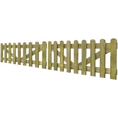 vidaXL Poorten 2 st 300x60 cm geïmpregneerd hout