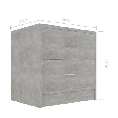 vidaXL Nachtkastjes 2 st 40x30x40 cm spaanplaat betongrijs