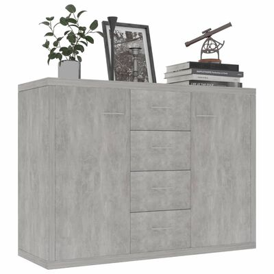 vidaXL Dressoir 88x30x65 cm spaanplaat betongrijs