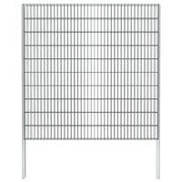 vidaXL Schanskorf dubbelstaafmat 2,008x2,03 m 2 m (lengte) staal grijs