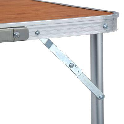 vidaXL Campingtafel inklapbaar 240x60 cm aluminium