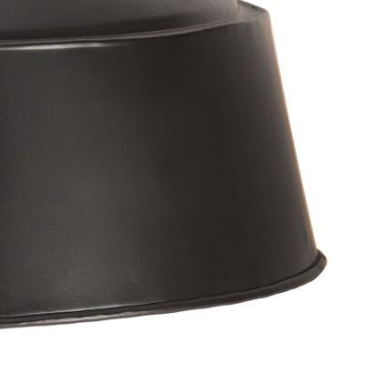 vidaXL Hanglamp industrieel E27 58 cm zwart