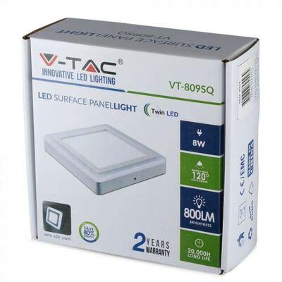 V-tac Vt- 2209 Mini Led Plafondlamp - 22 Watt - 3000k - Vierkant