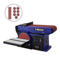T-Mech 500W Band- en schijf schuurmachine 230V Ø150mm Incl extra
