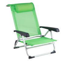 Bo-Camp Strandstoel aluminium groen 1204794