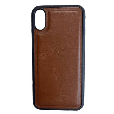 Hem Iphone Xs Max Double Catch Bruine Wallet Met Rits Iphone Xs Max/