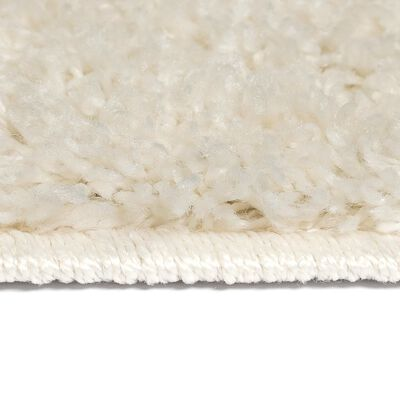 vidaXL Vloerkleed shaggy hoogpolig 140x200 cm crème