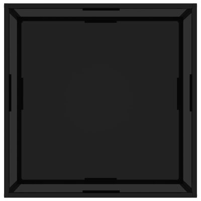 vidaXL Theetafel 80x80x35 cm gehard glas zwart