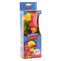 Johntoy interactieve papegaai rood 11 cm