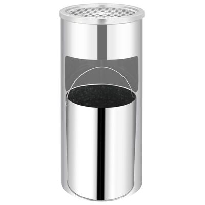 vidaXL Wandasbak/prullenbak roestvrij staal 26 L