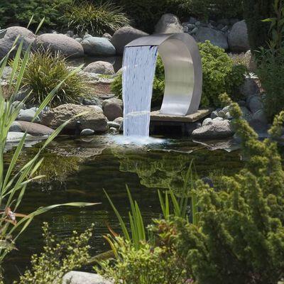 vidaXL Zwembadwaterval 45x30x60 cm roestvrij staal