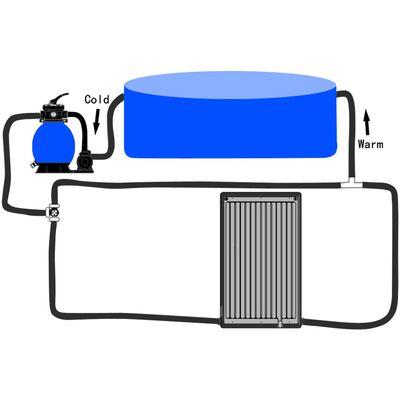 vidaXL Zonneverwarmingspaneel gebogen zwembad 110x65 cm