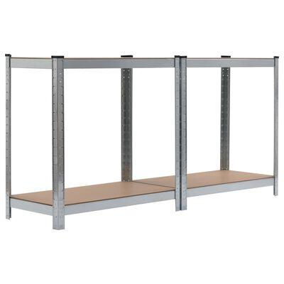vidaXL Opbergrek 80x40x160 cm staal en MDF zilverkleurig