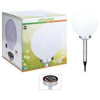 ProGarden Solarlamp Ball LED 30 cm wit