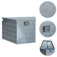 vidaXL Doos 737 / 381x410x460 mm aluminium zilverkleurig