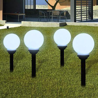 vidaXL Buitenverlichting op zonne-energie (balvormig) LED 15 cm (4 st)