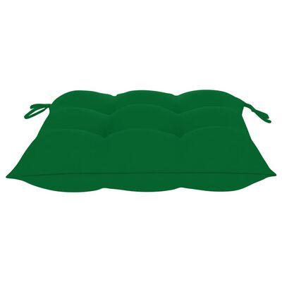 vidaXL Tuinstoelen stapelbaar 6 st met kussens massief teakhout
