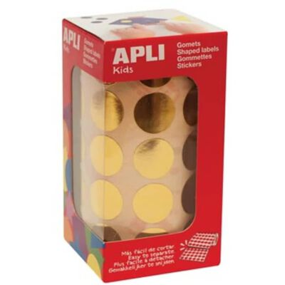 Apli Kids stickers op rol, cirkel diameter 20 mm, 1770 stuks, metal...