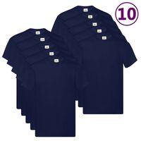 Fruit of the Loom T-shirts Original 10 st XXL katoen marineblauw